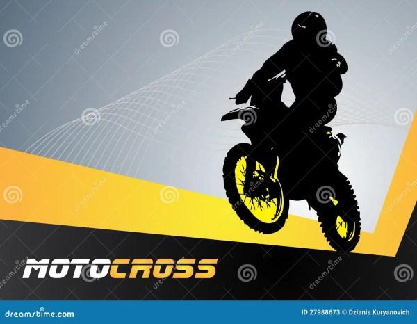 Motocross Vector Clip Art