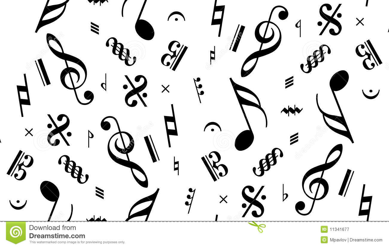 Vector Music Note Seamless Stock Vector Illustration Of