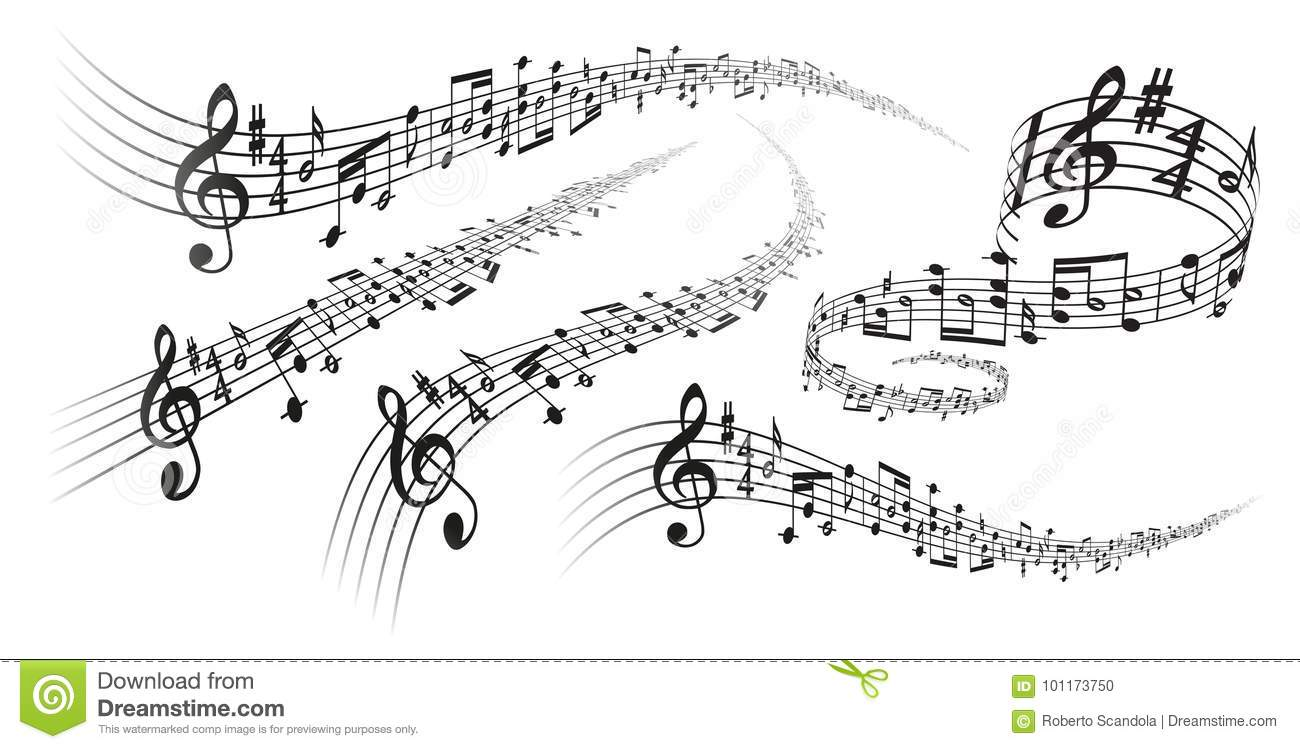 Vector Musical Score Decorations Stock Vector