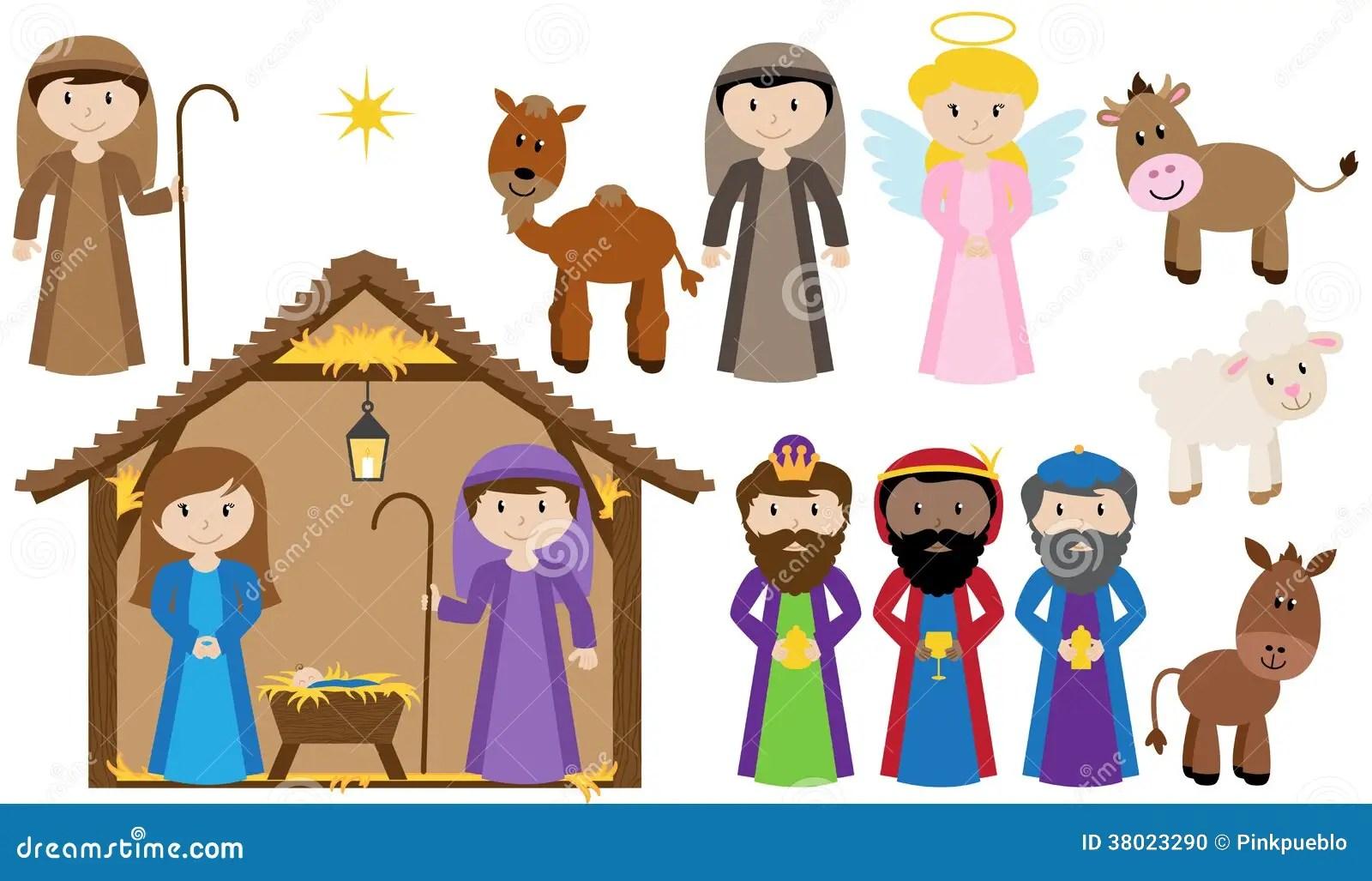 Vector Nativity Collection Stock Photo