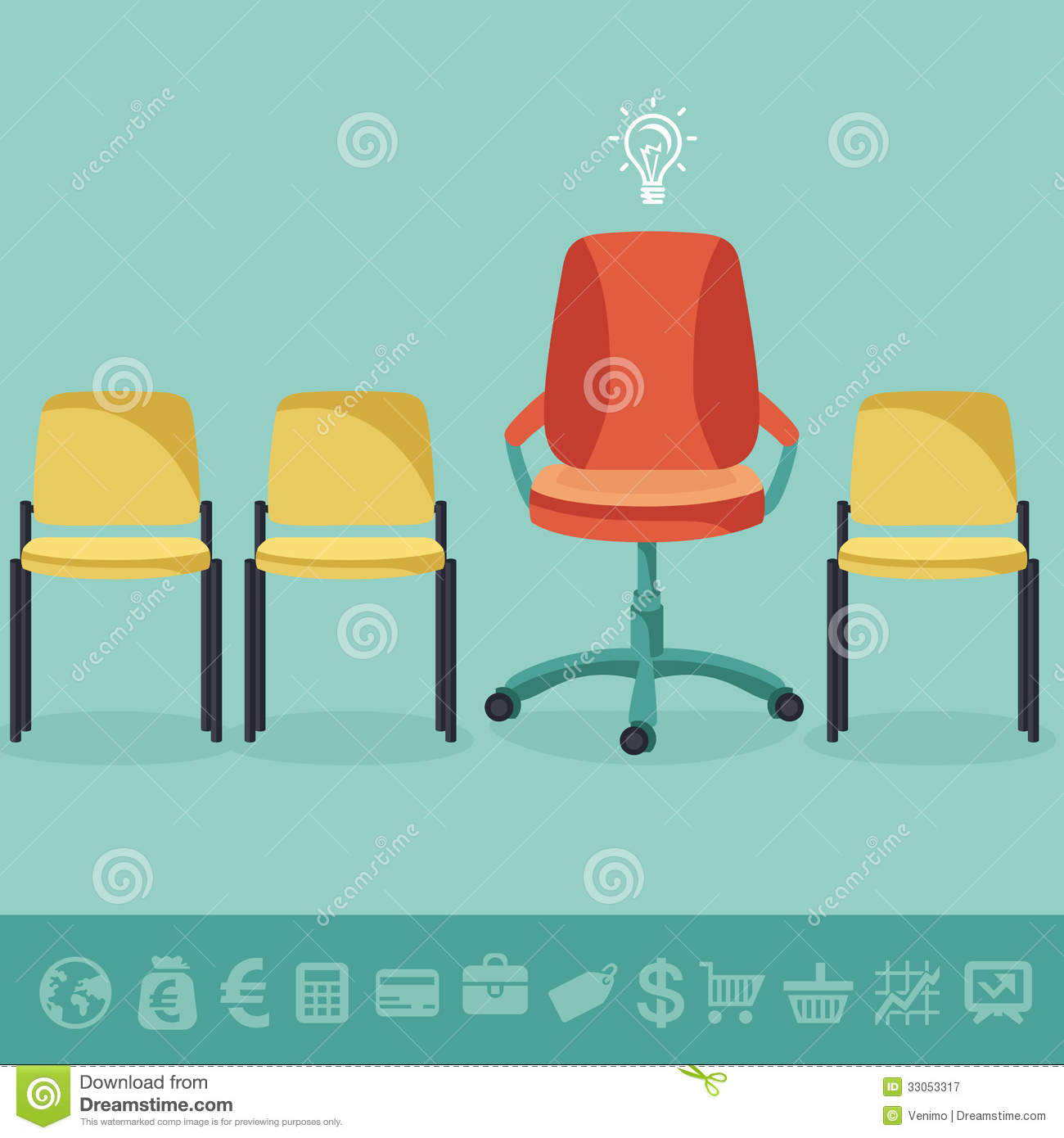office chair vector suvs with captain chairs 2018 concept stock illustration of