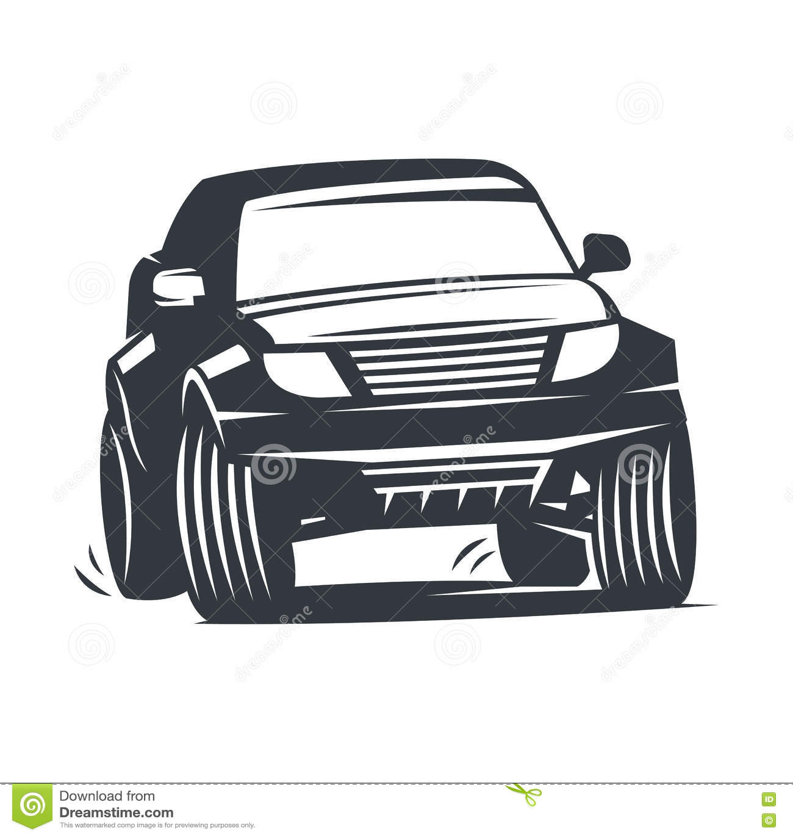 Vector Offroad Car Stock Vector