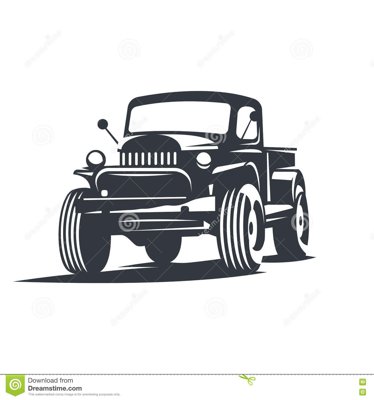 Vector offroad truck stock vector. Illustration of