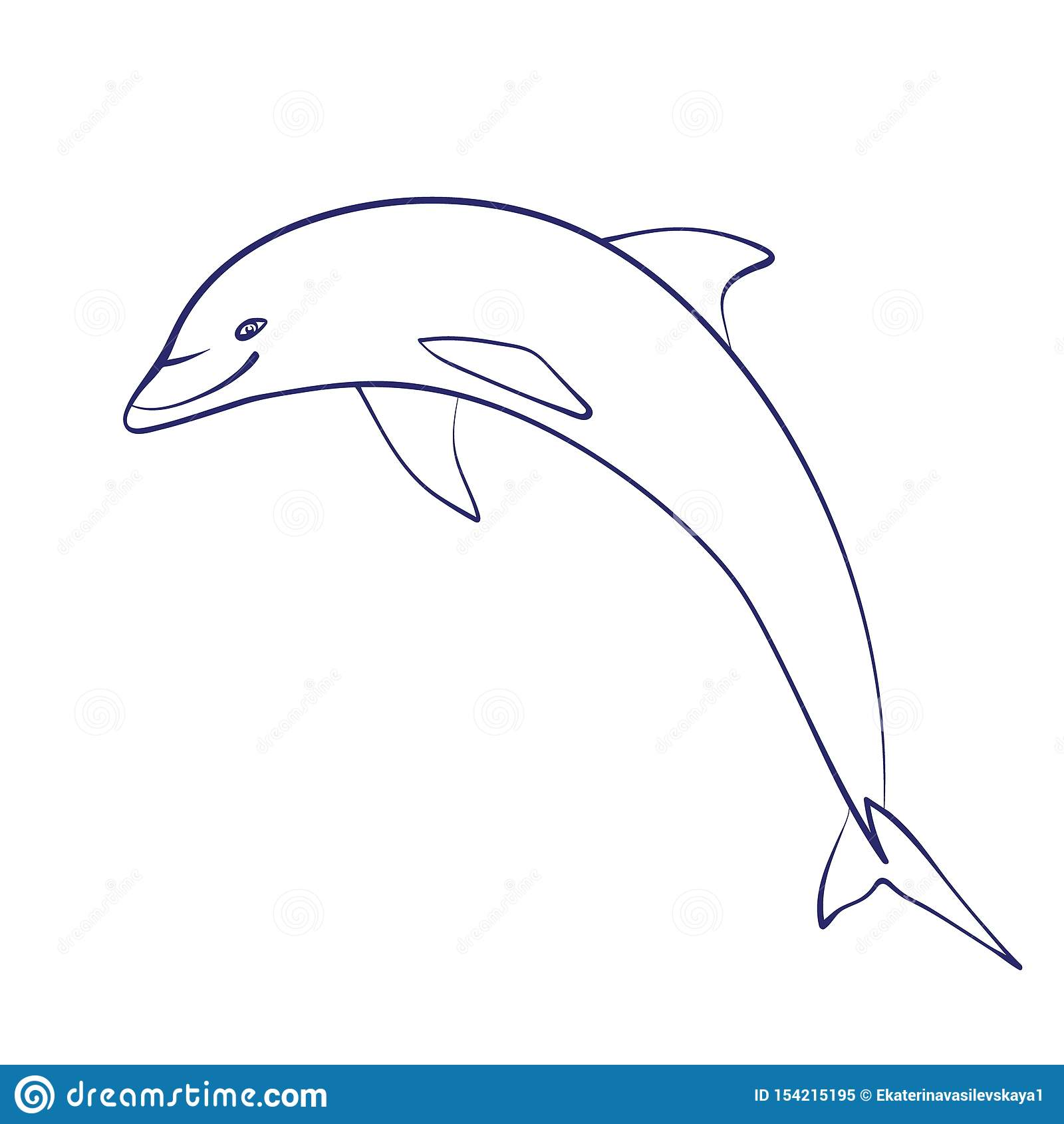 Coloring Book Dolphin
