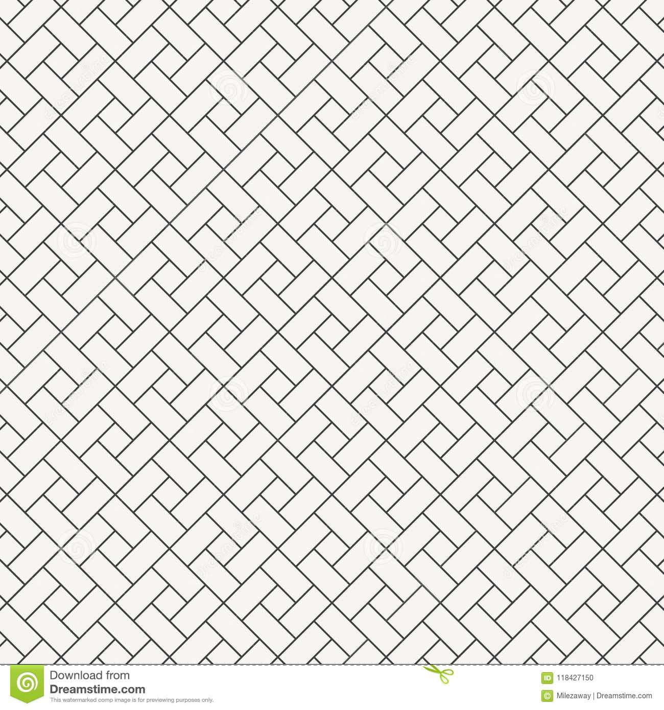 Vector Pattern Design Square Diamond Shape. Repeating With