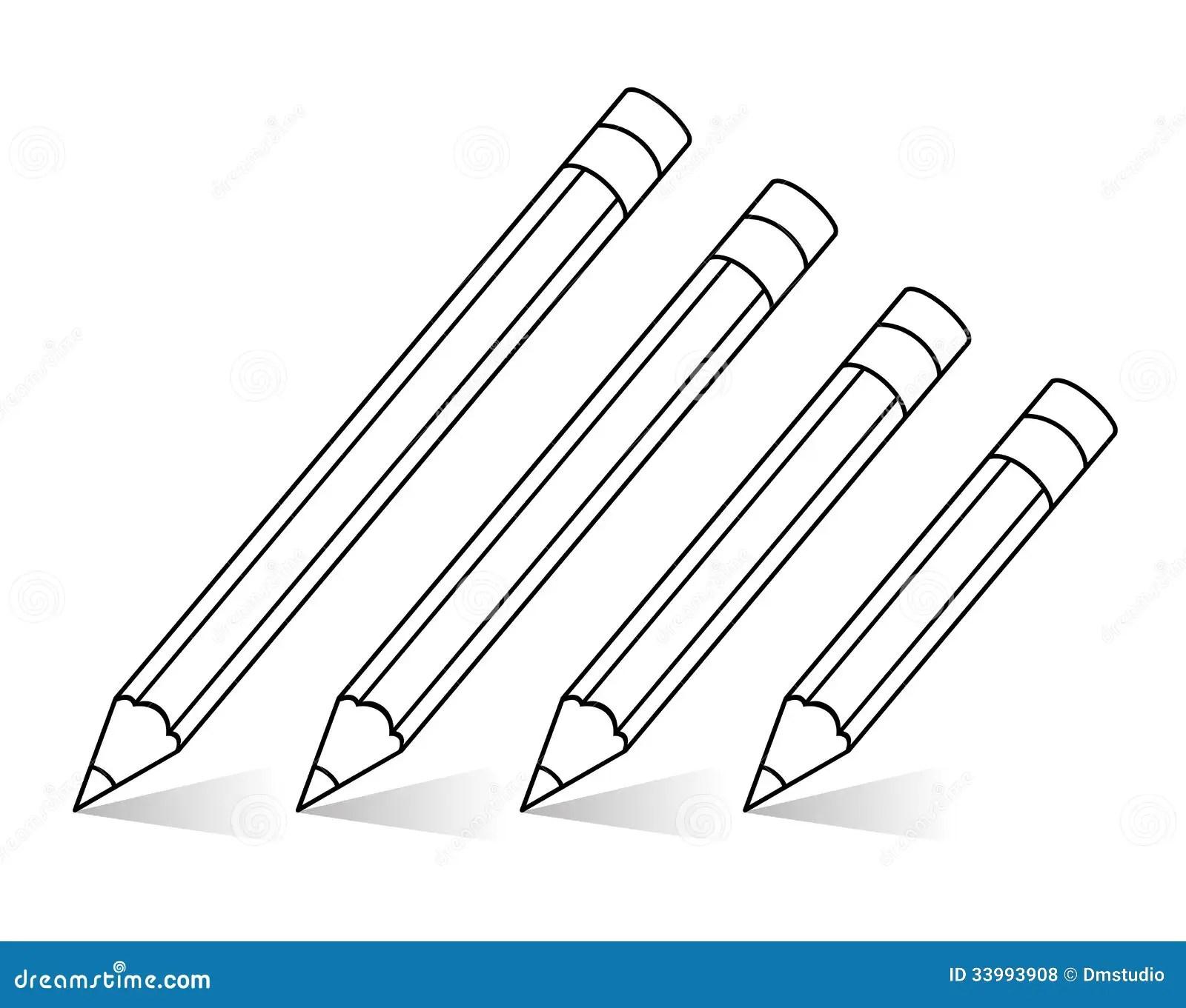 Vector Pencils Stock Vector Illustration Of Shadow Lead