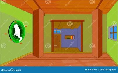 vector mouse trap animatie animation muis beeld achtergrond huis voor interior