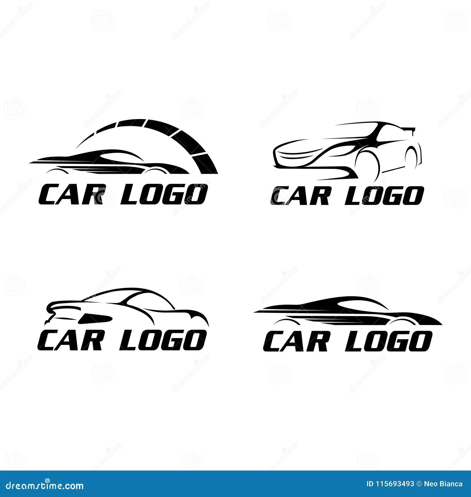Vector Plano De La Coleccion Del Coche Del Logotipo De La
