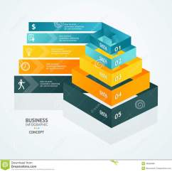 Blank Pyramid Diagram 5 Workover Rig Vector Chart For Infographics Design Stock - Image: 46350996