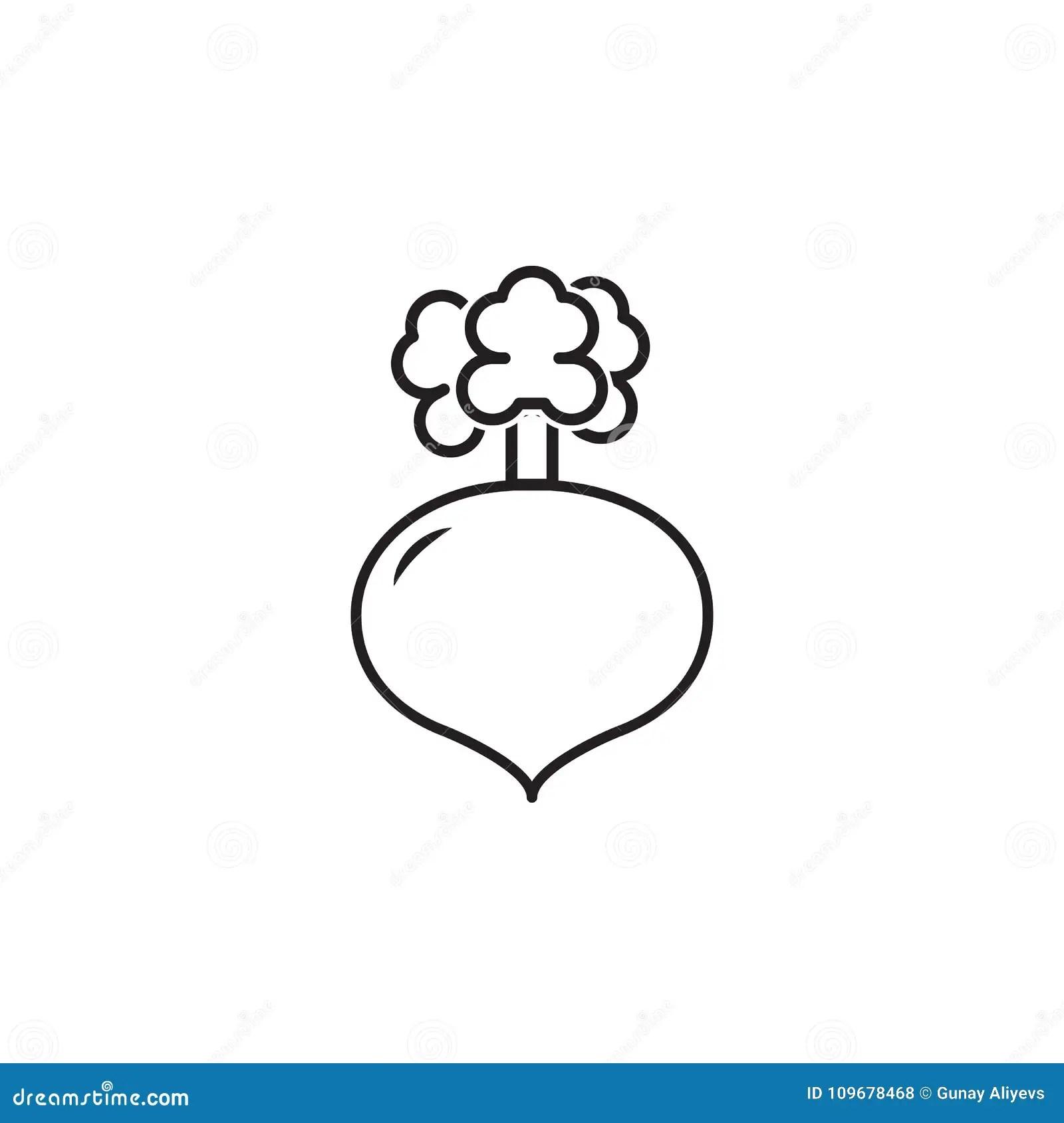 Turnip Line Icon Vector Illustration
