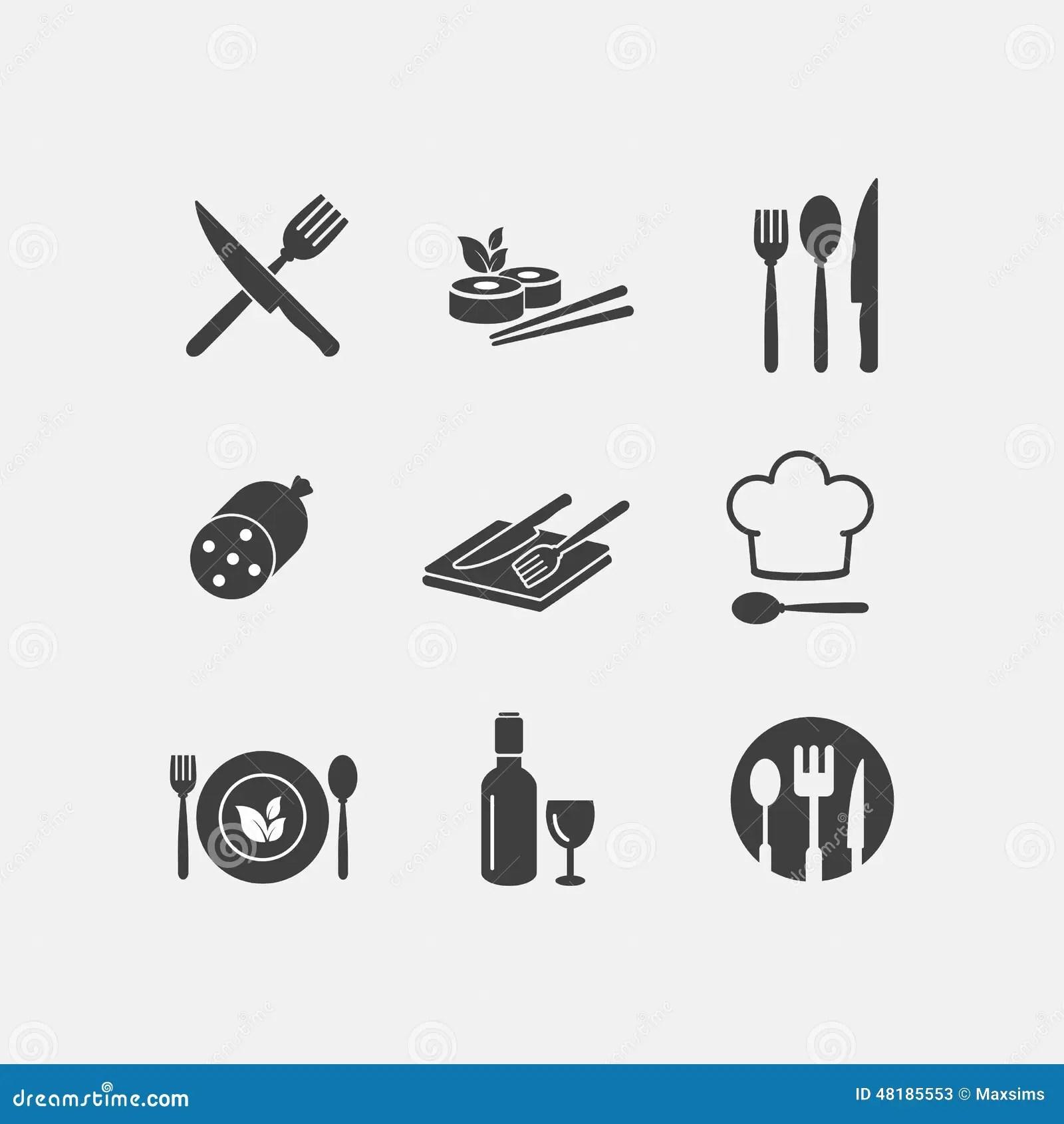 Vector Restaurant Food Icon Menu Cuisine Stock Vector