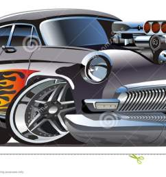 vector retro cartoon hotrod [ 1300 x 694 Pixel ]
