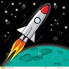 Real Rocket Ship Diagram Cat 5 Wiring Uk Vector Retro Space In The Sky Stock