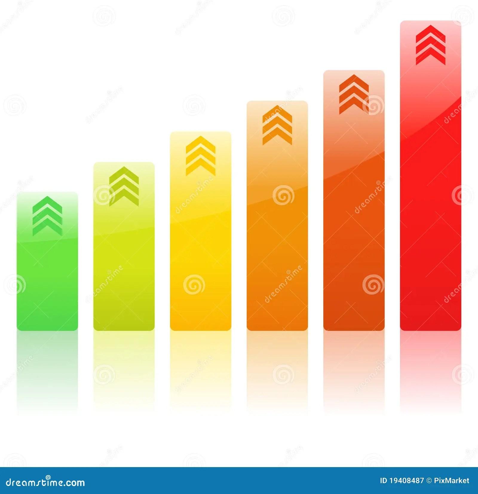 Vector Rising Bar Graph Royalty Free Stock Photography