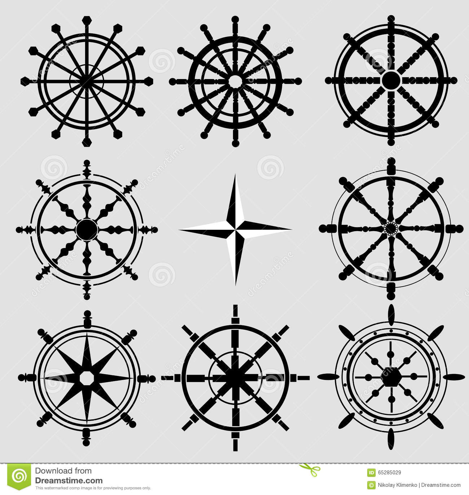 Black Wheel Flat Icon Vector Illustration