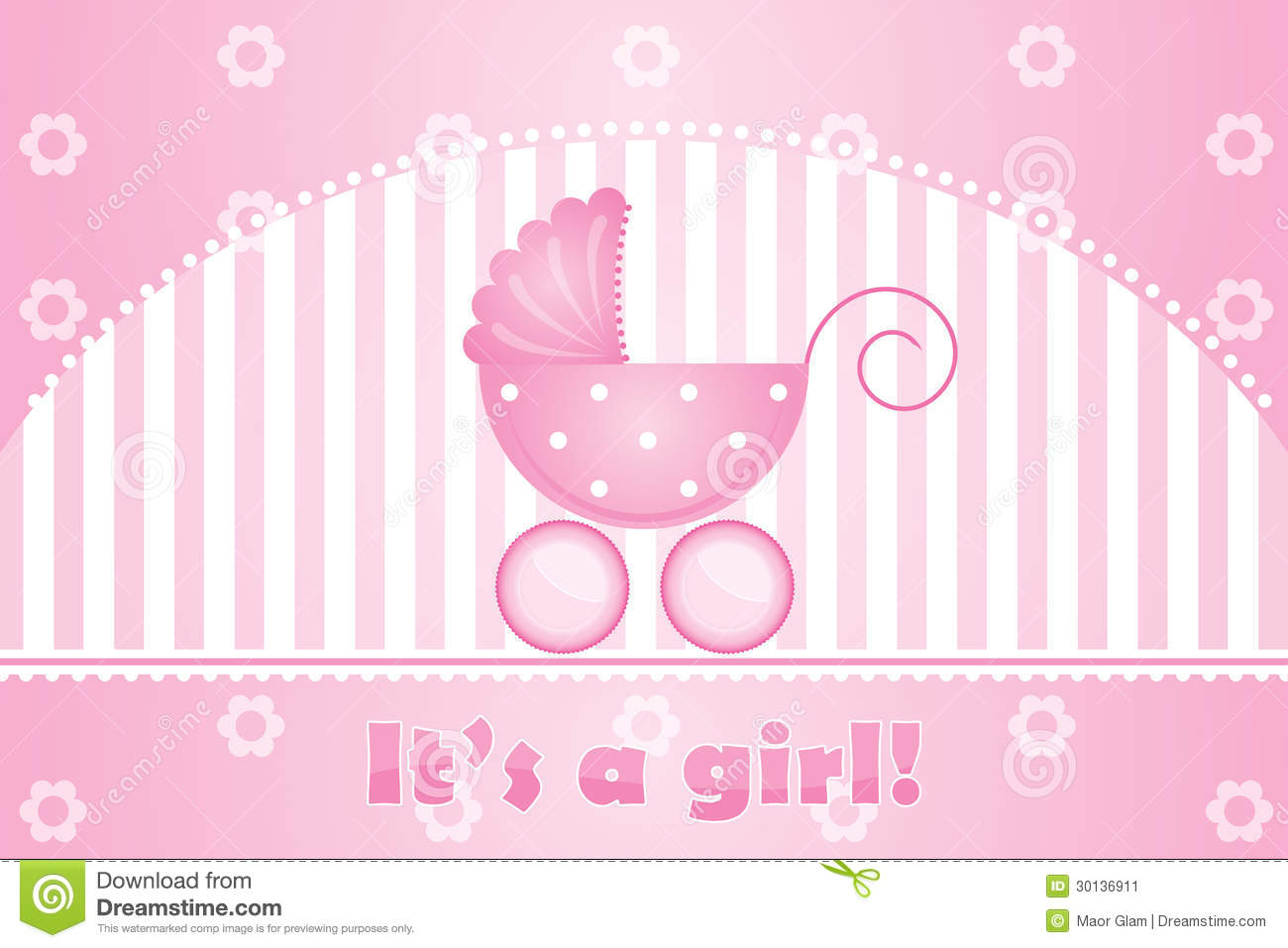 Cute Newborn Baby Girl Wallpaper Its A Girl Stock Vector Illustration Of Pattern Child