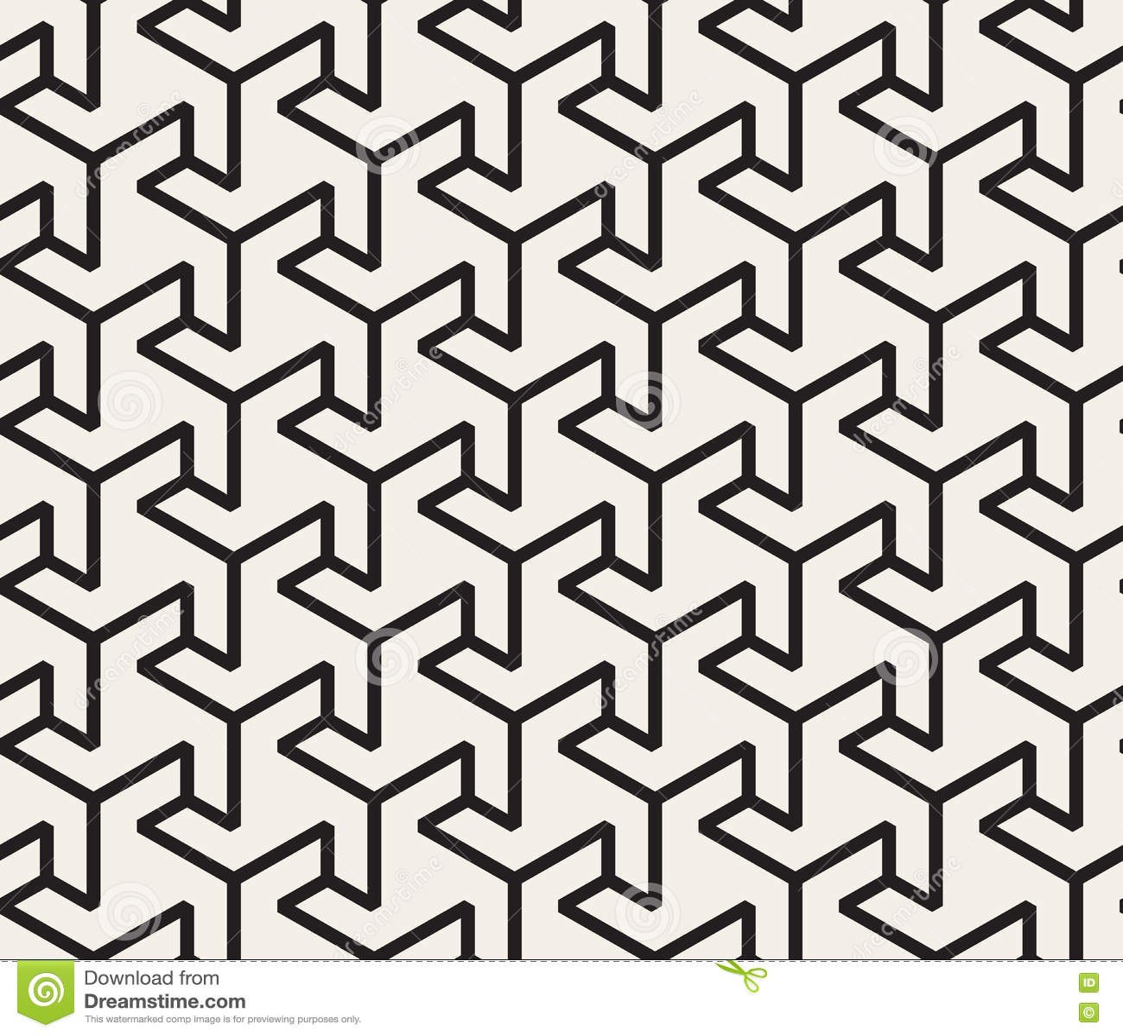 Vector Seamless Black And White Geometric Triangle Shape