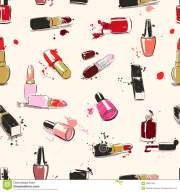vector seamless pattern with lipstick