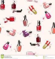 vector seamless pattern with nail