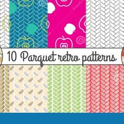 Kitchen Wallpaper Patterns Modern Designs Vector Seamless Pattern Set Parquet Retro Background