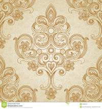 Vector Seamless Pattern In Victorian Style. Royalty Free ...