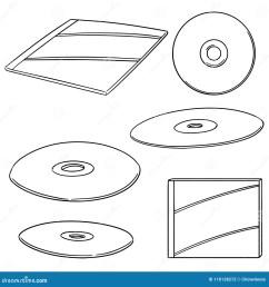 vector set of cd dvd [ 1300 x 1390 Pixel ]