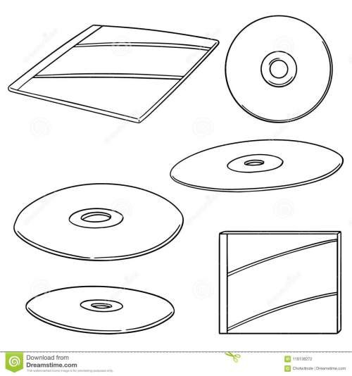 small resolution of vector set of cd dvd