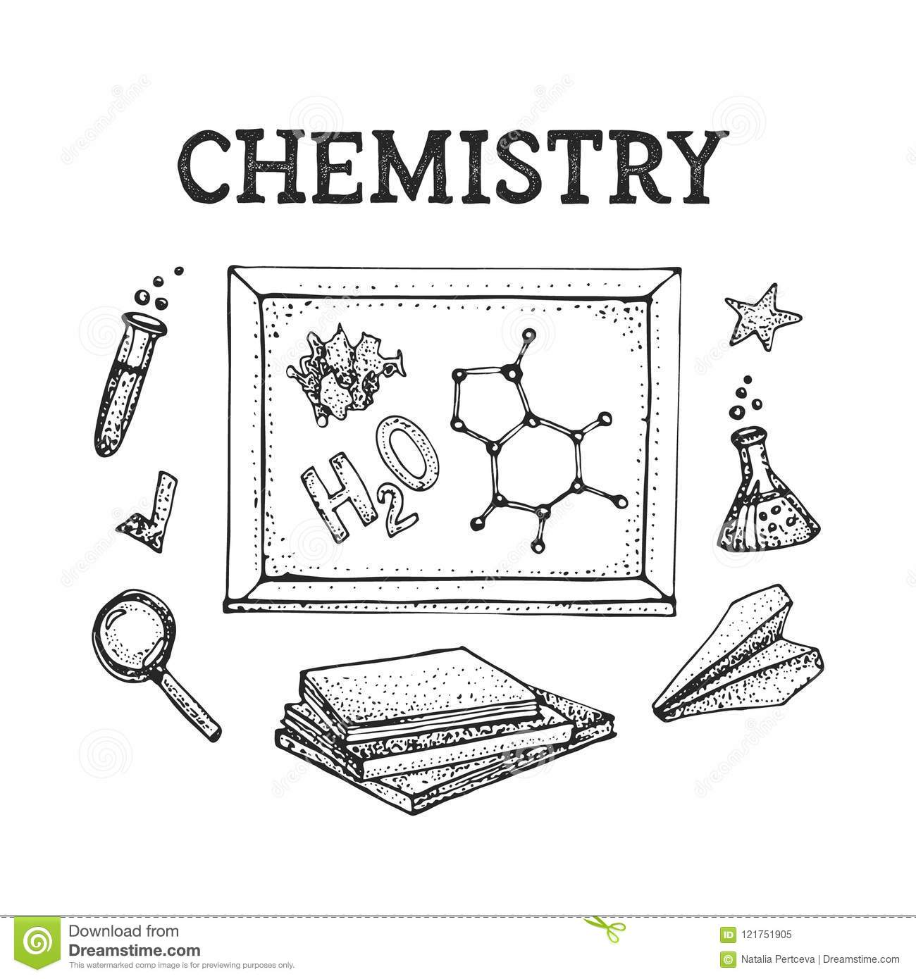 Vector Set Of Chemistry Science Theory And Bonding Formula