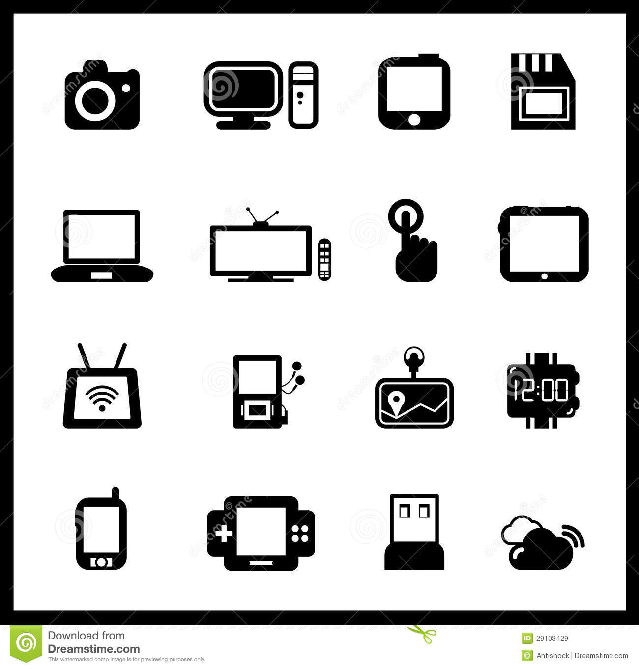 Vector Set Of Electronic And Mobile Devices Royalty Free