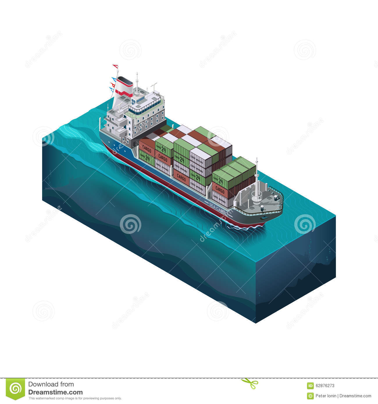 hight resolution of vector set elements barge with cargo sailing stock vector barge ramp design ocean barges diagram