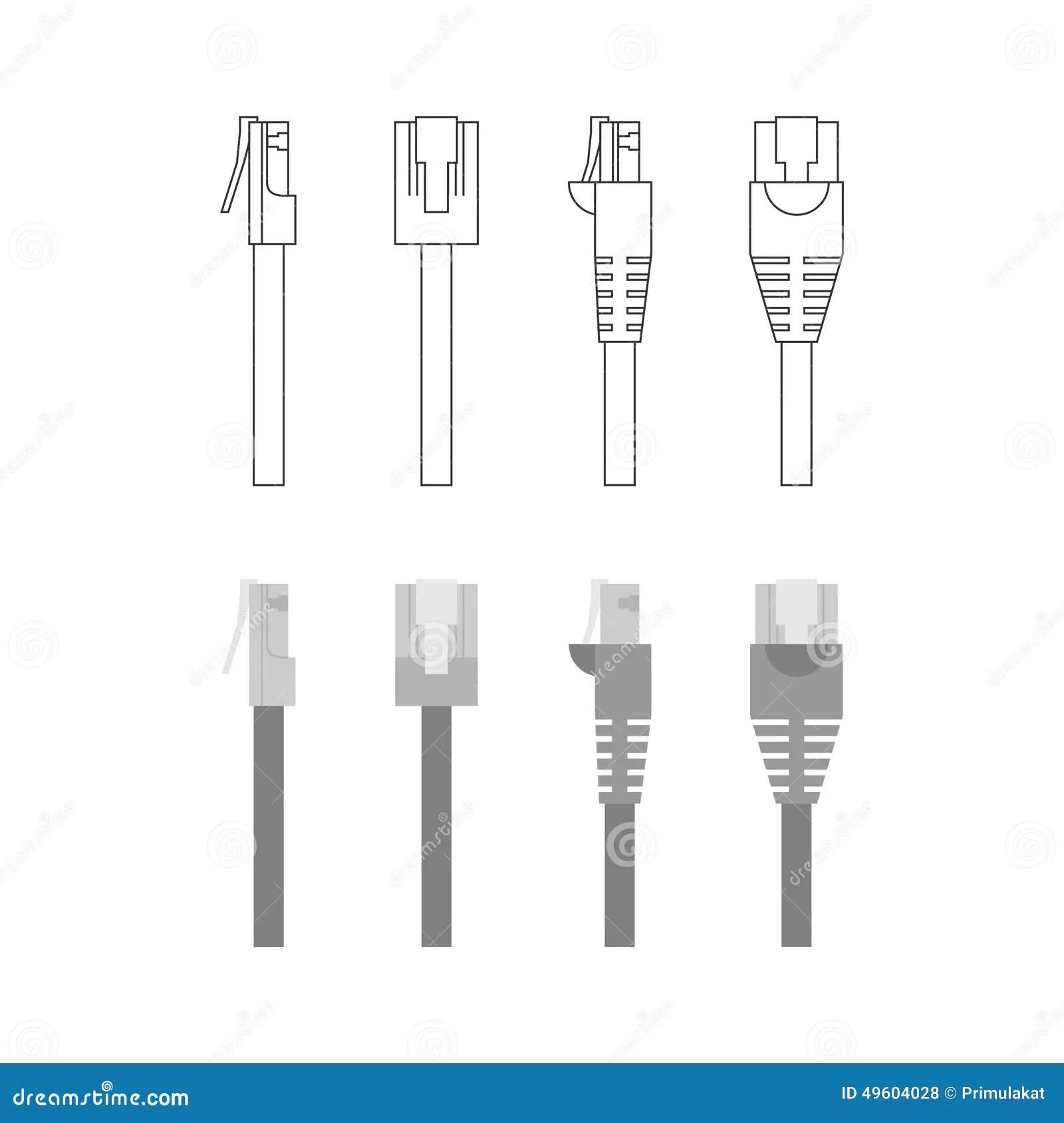 Vector Set Of Ethernet Connectors Stock Vector