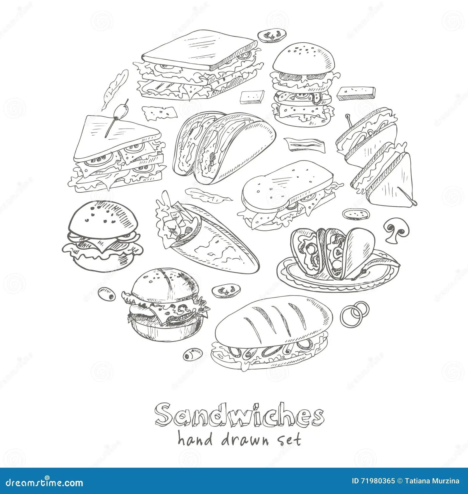 Peanut Butter Jelly Sandwich Vector Illustration