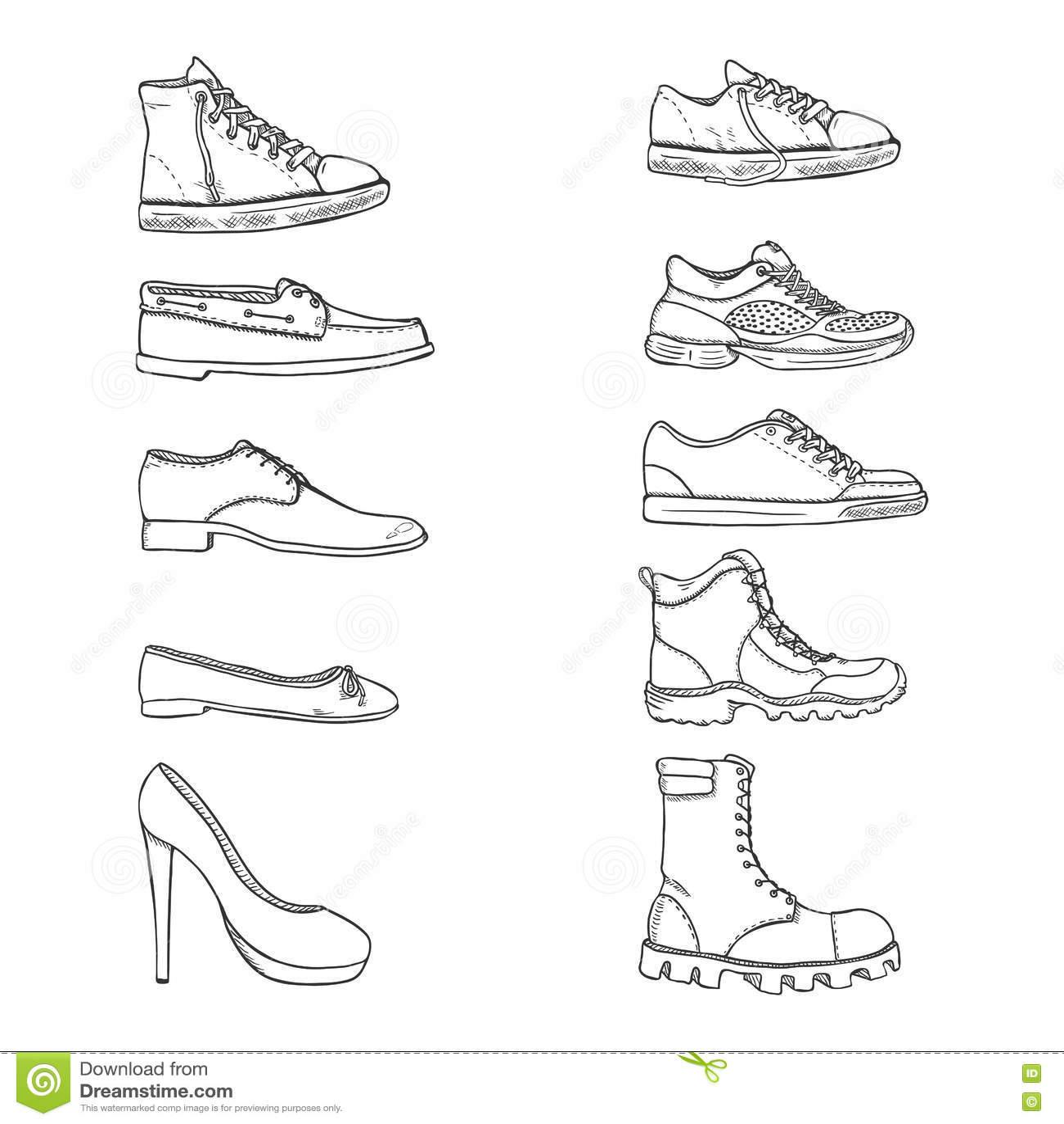 Ballet Shoes Sketch Royalty Free Illustration