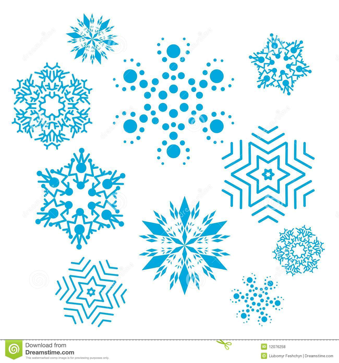 Vector Set Of Snowflakes Stock Illustration Illustration