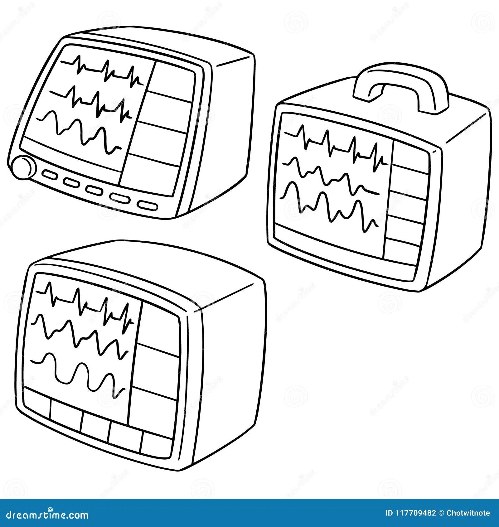 Vital Sign Monitor Stock Illustrations