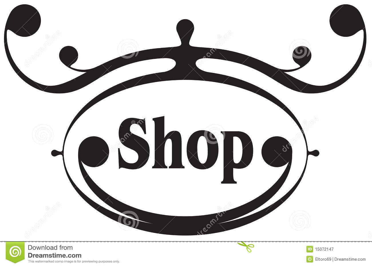 Vector Shop Sign Royalty Free Stock Photography