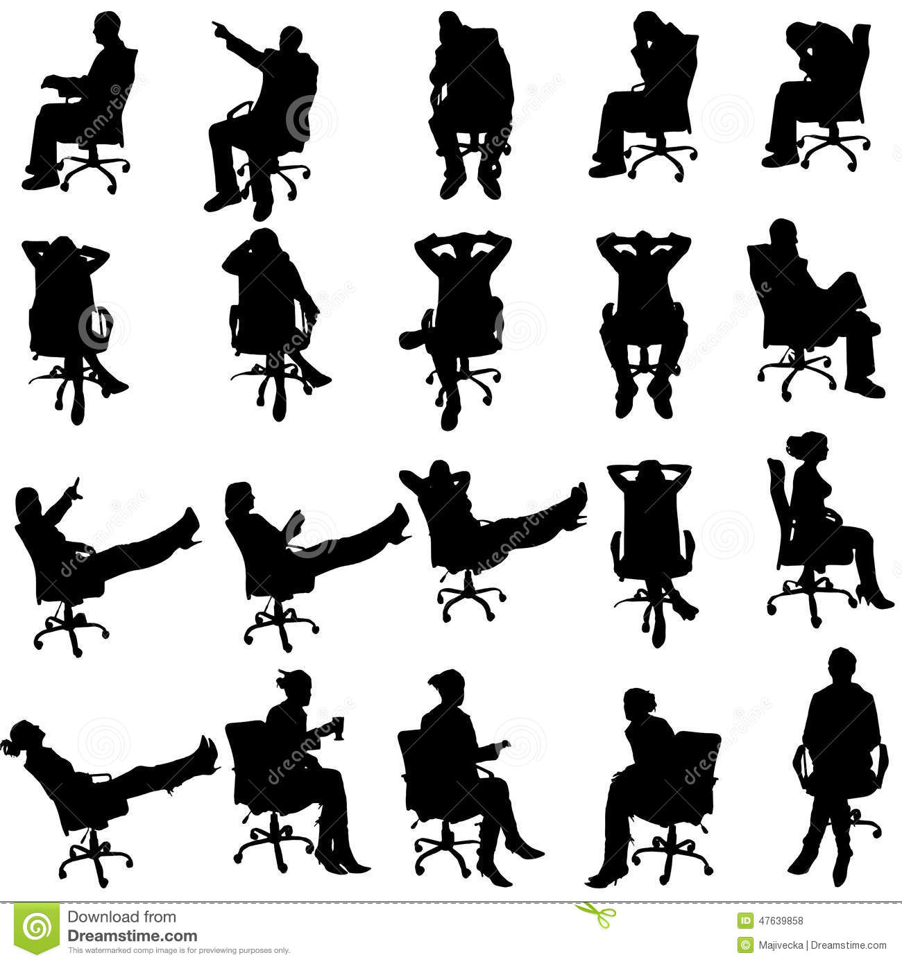 Vector Silhouette Of Business People Stock Vector