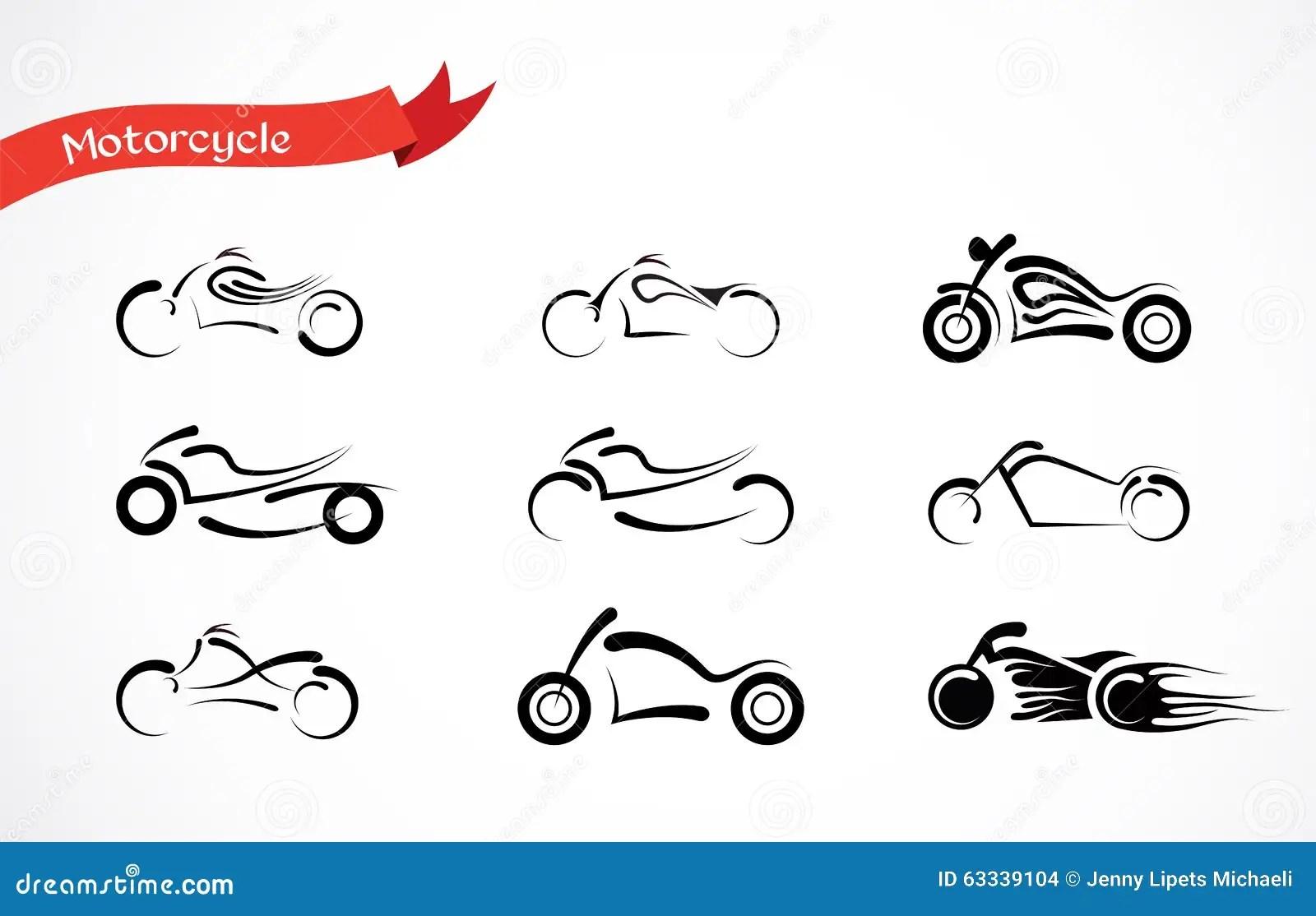Classic Motorcycle Logo Vector Illustration