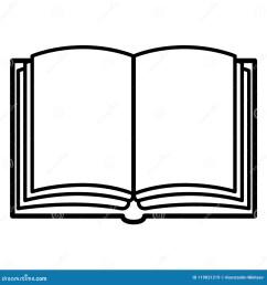 vector black outline icon open blank book [ 1300 x 1390 Pixel ]