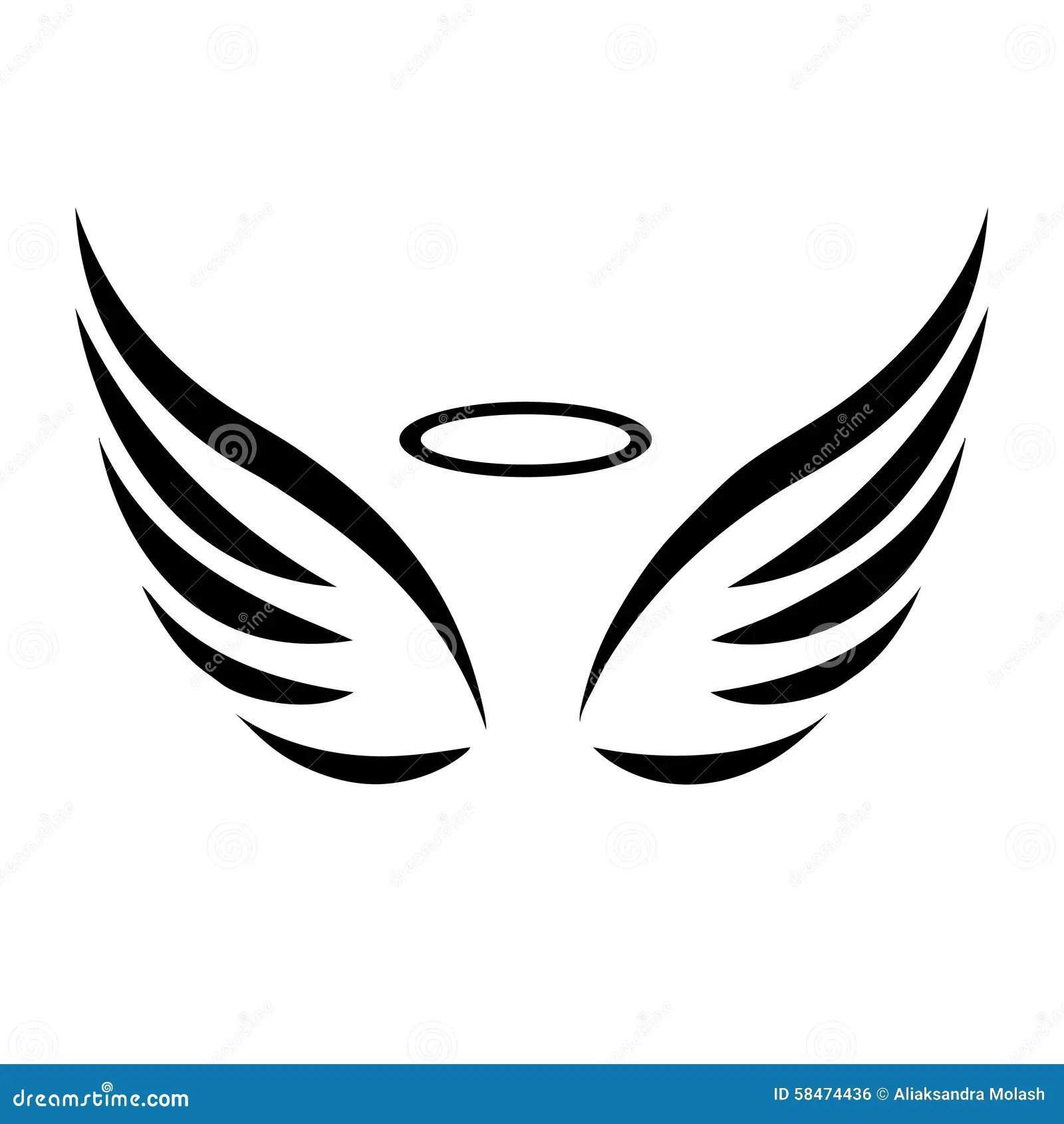 Vector Sketch Of Angel Wings Stock Vector