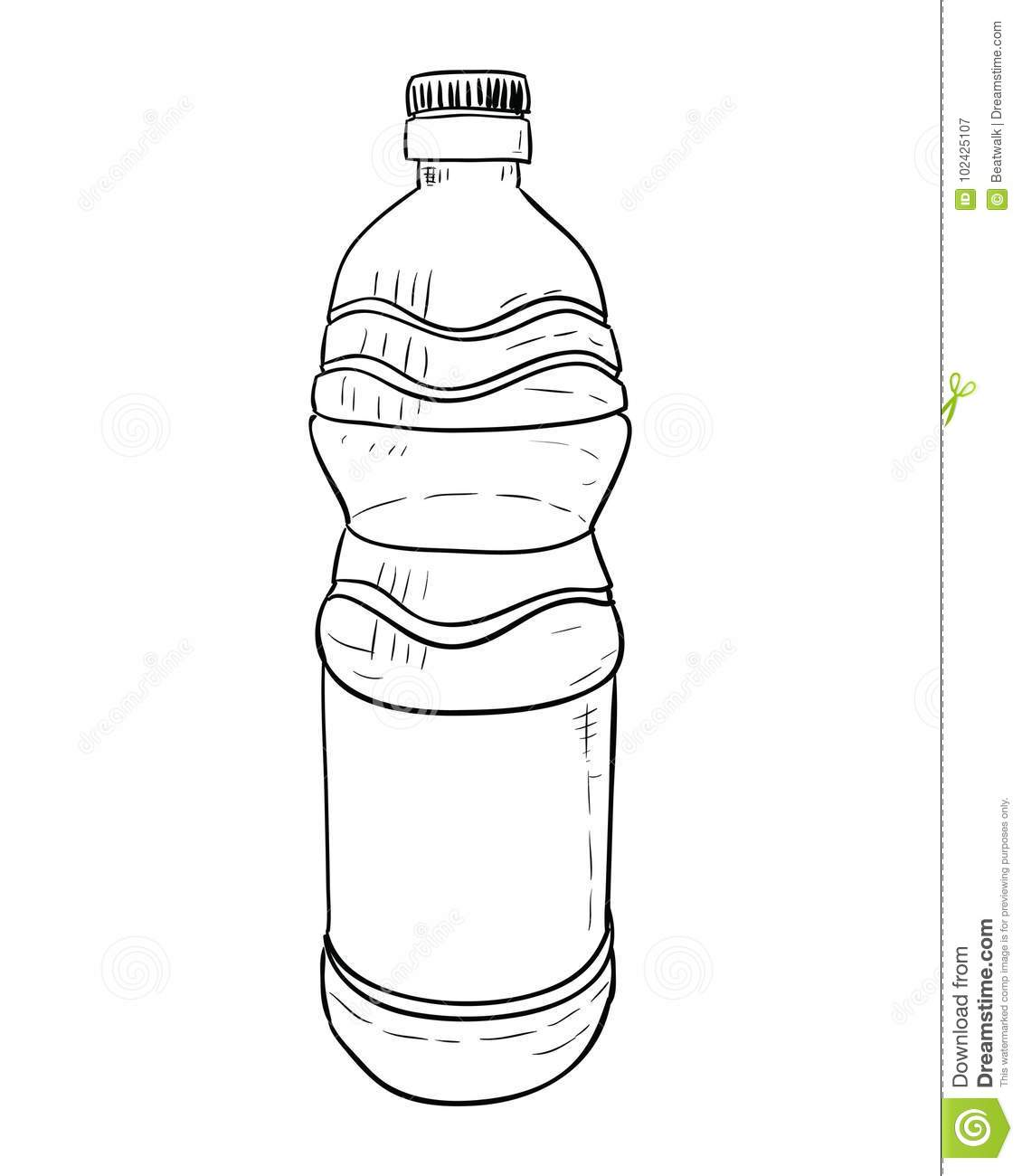 Vector Sketch Of Plastic Bottle Stock Vector