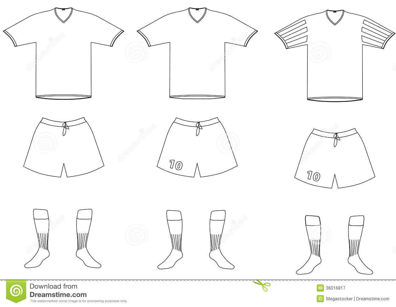 Vector Soccer Player Uniform Royalty Free Stock