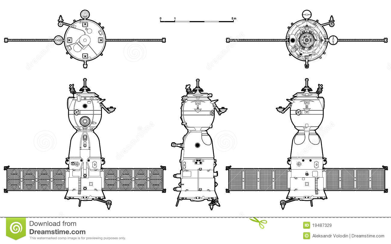 Vector Spaceship Stock Vector Image Of Piloting