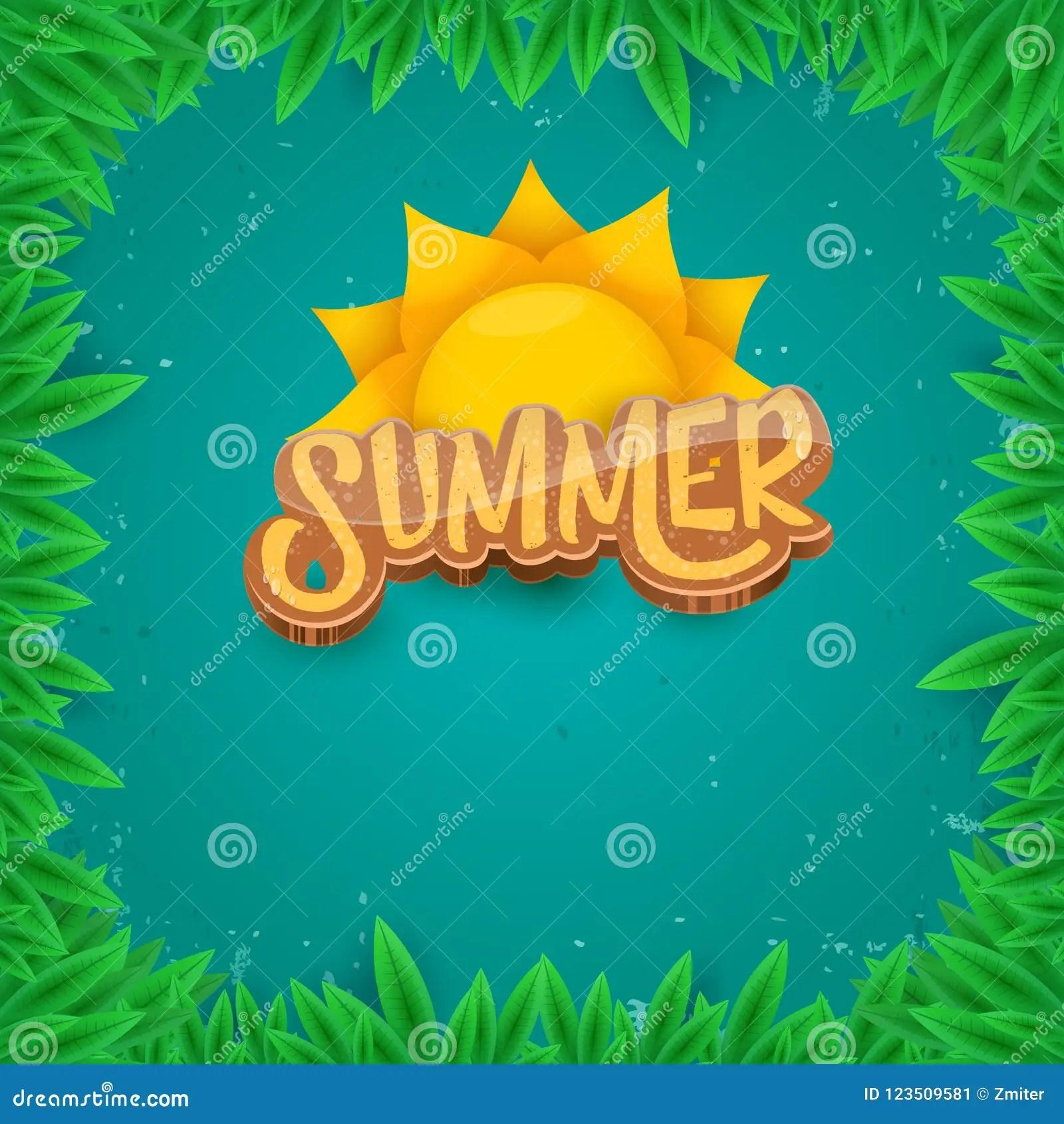 vector summer label paper