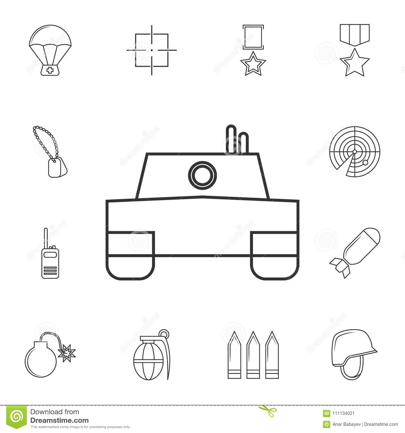 Vector Tank Icon Element Of Popular Army Icon Premium