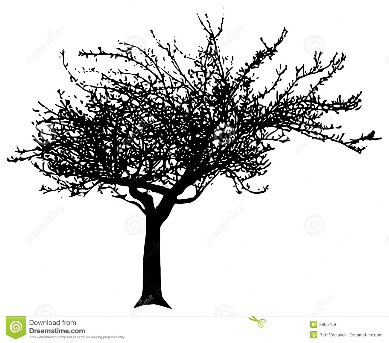 vector tree stock vector