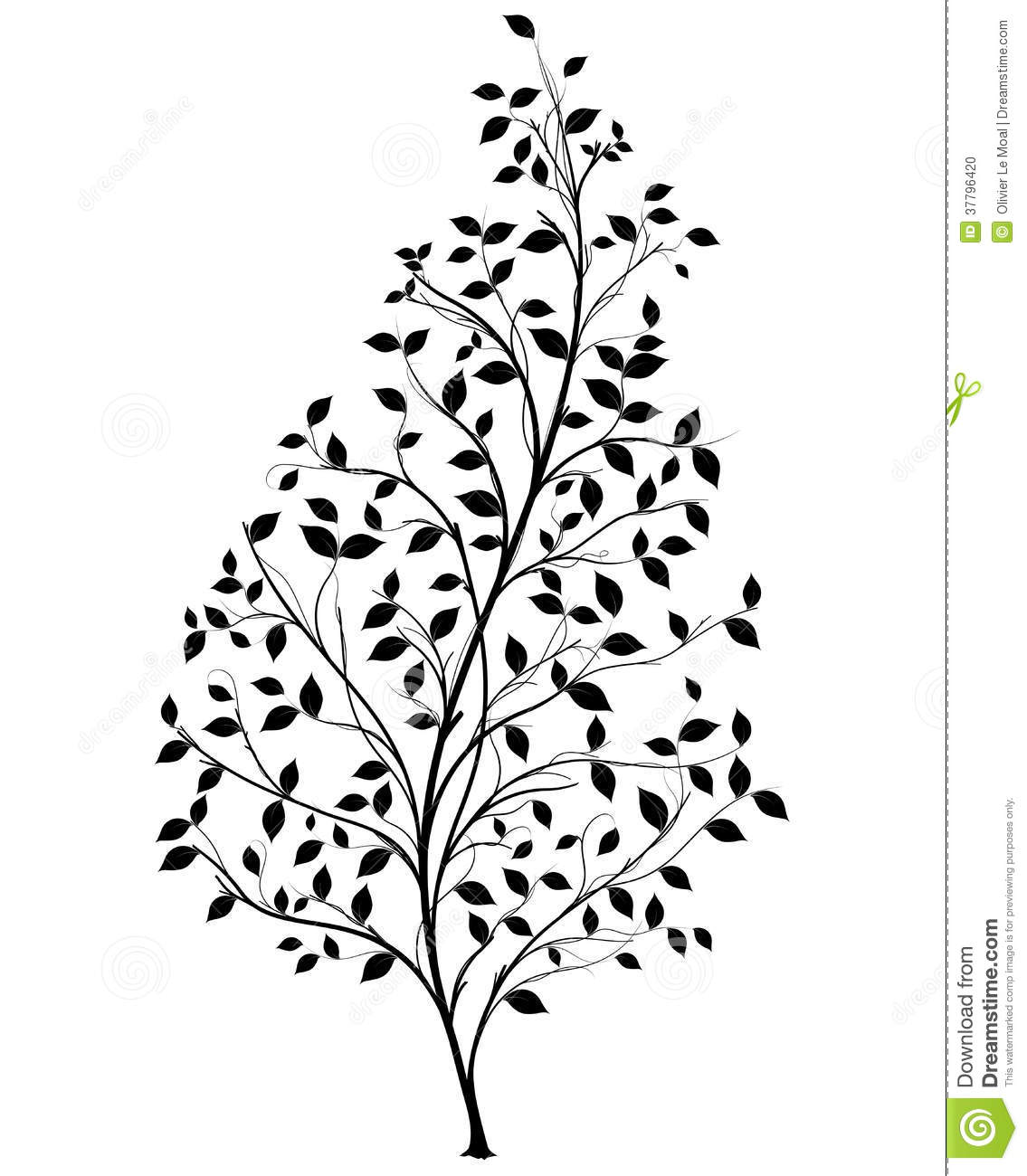 shrub graphic symbols diagram do it yourself house wiring vector tree silhouette element stock