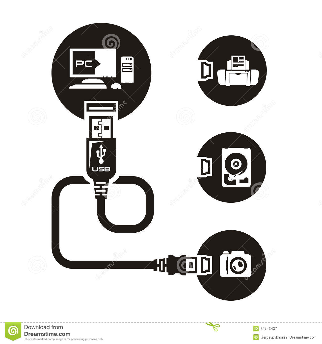 Vector Usb Stock Vector Image Of Communicate Equipment