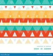 Vector Vibrant Ikat Stripes Horizontal Frame Stock