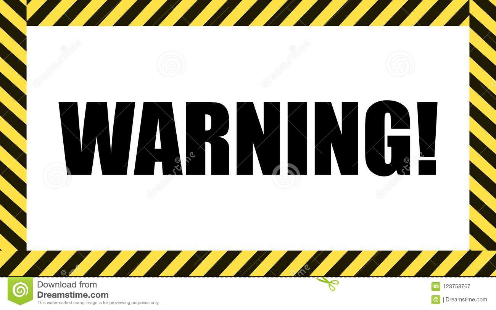 Vector Warning Sign Dangerous Tape Frame Caution Symbol